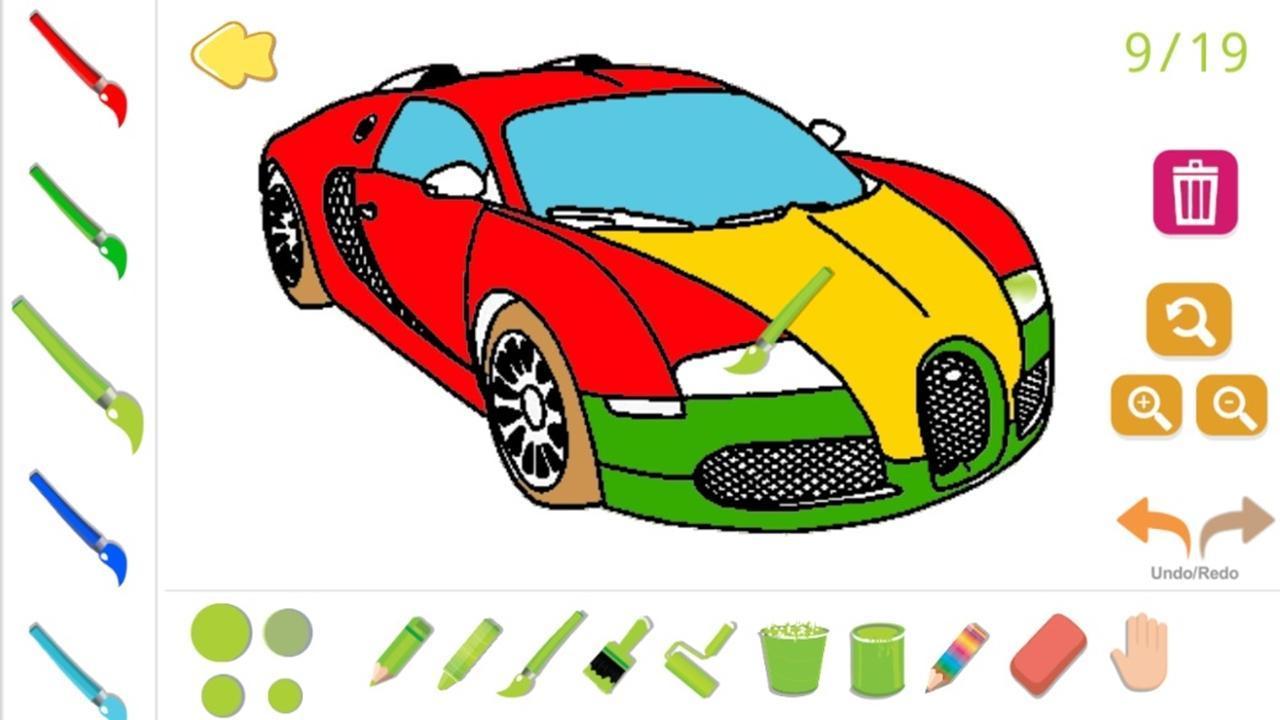 Araba Boyama Kitabi Boyama Ve Renk Ogreniyorum For Android Apk