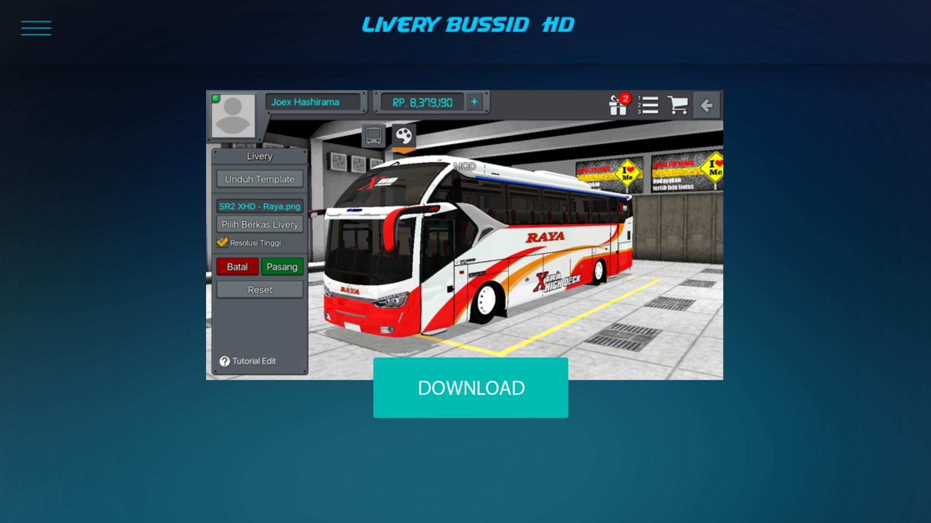 Livery mod sr2 xhd lengkap buat android
