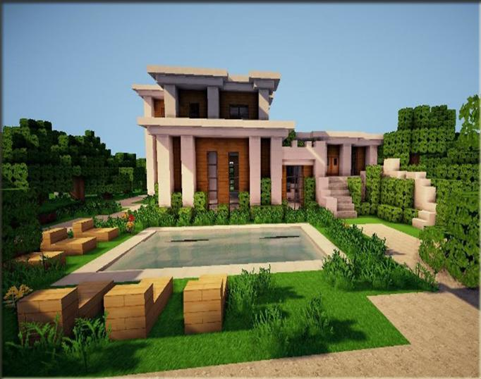 The Idea Of A Modern Home For Minecraft For Android Apk