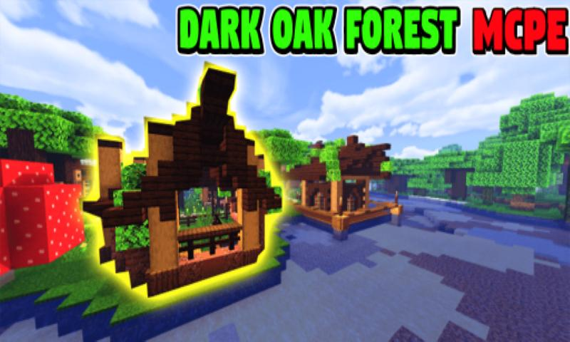 Survival House Dark Oak Forest Map Building Mcpe For Android Apk Download