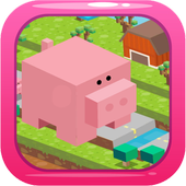 Blocky Pig Runner icon