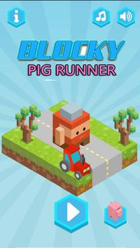 Blocky Pig Runner screenshot 1