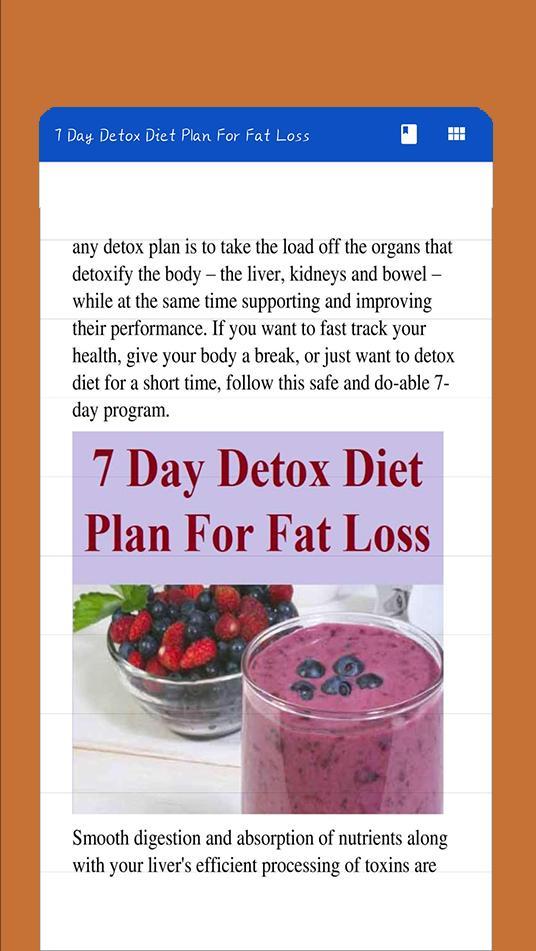 detox diet for fat loss