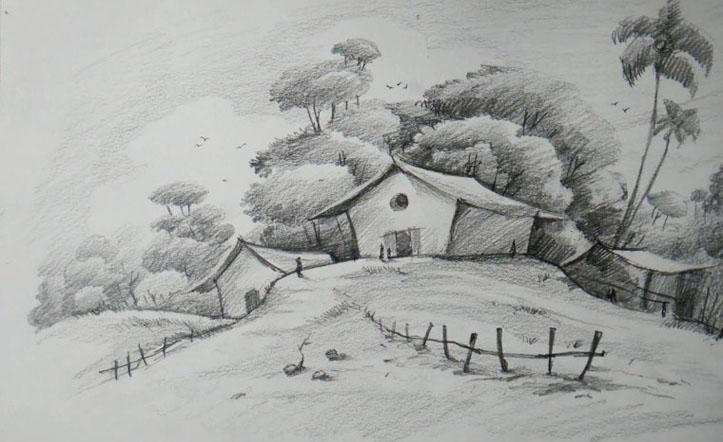 New Drawing Scenery Sketch For Android Apk Download