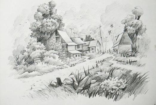 New Drawing Scenery Sketch screenshot 1
