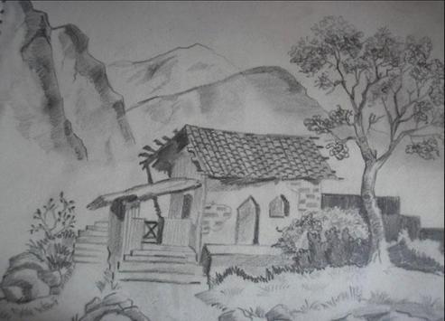 New Drawing Scenery Sketch screenshot 2