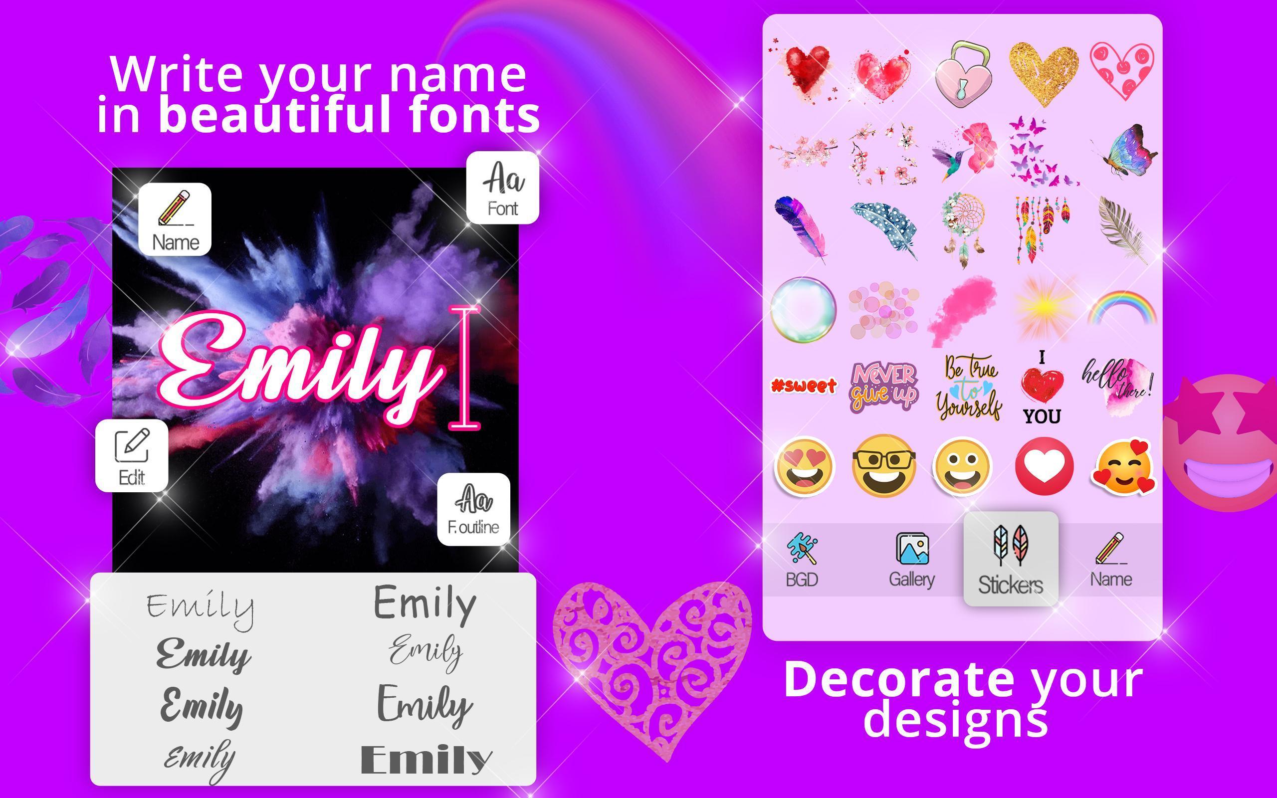 Tulis Nama Pada Foto Name Art Latar Belakang For Android Apk Download