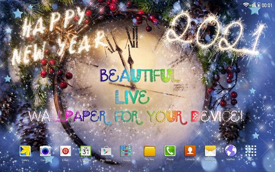 Happy New Year Wallpaper 2021 – Holiday Background screenshot 9