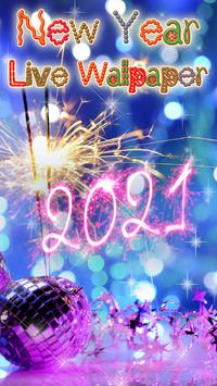 Happy New Year Wallpaper 2021 – Holiday Background poster
