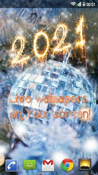 Happy New Year Wallpaper 2021 – Holiday Background screenshot 2