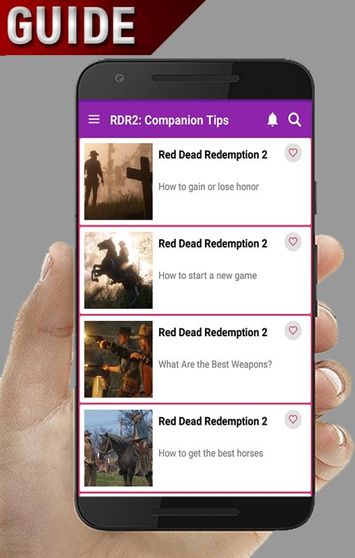 Guide for RDR2, Companion Tips for Android - APK Download