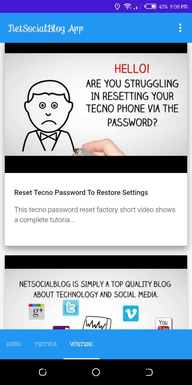 NetSocialBlog App poster