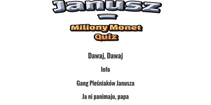 Janusz i Miliony Monet Quiz screenshot 2