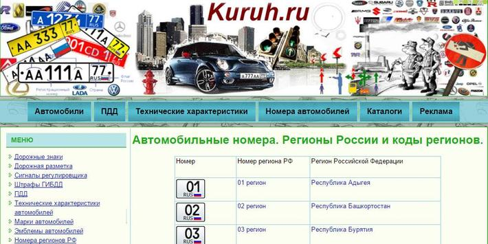 Сodes of Russian regions screenshot 5