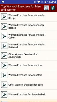 Top Workout Exercises for Men and Women screenshot 1