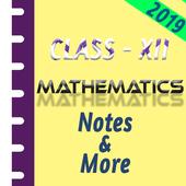 Class 12 Mathematics Study Materials & Notes 2019 Zeichen
