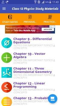 Class 12 Mathematics Study Materials & Notes 2019 Screenshot 4