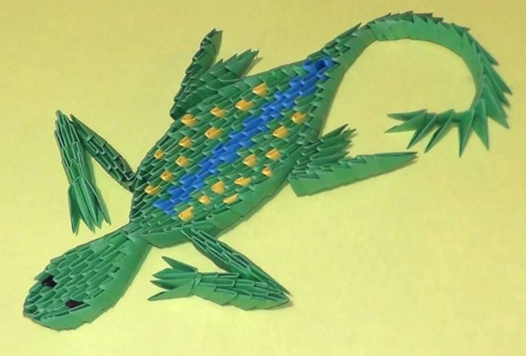 How to make an Origami Lizard (Justin Nachsin) | Origami lizard ... | 517x763