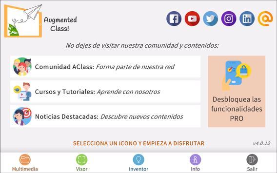 AugmentedClass! Realidad Aumentada para Educación syot layar 2