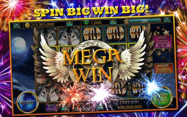 Slots™ Wolf Free Slots Casino: Slot Machines Games poster