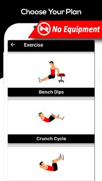 Flat Stomach Workout For Men Fitness Gym Exercise screenshot 3