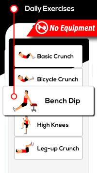 Flat Stomach Workout For Men Fitness Gym Exercise screenshot 2