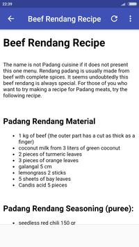 Padang Recipes screenshot 1
