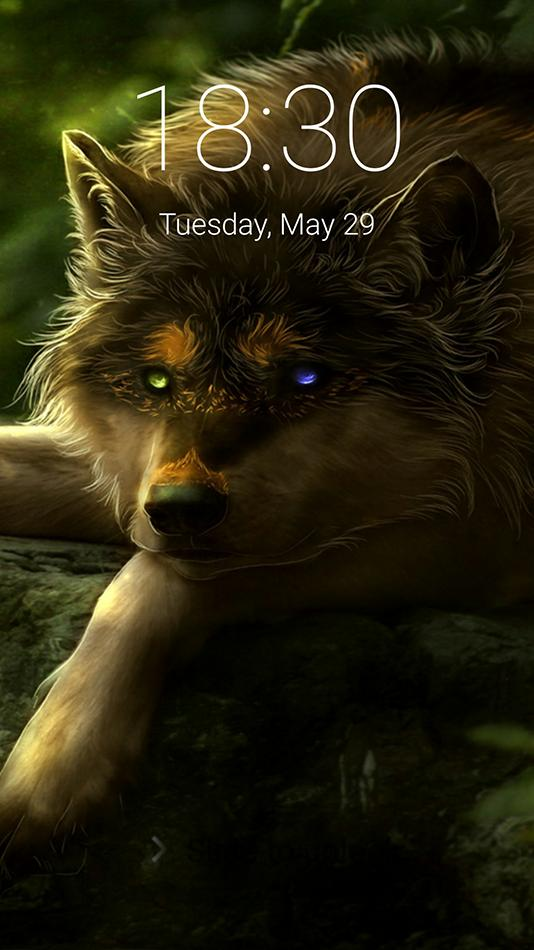 Wolf Fantasy Lock Screen Live Wallpaper 2018 For Android
