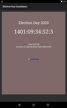 US Presidential Election Day 2020 Countdown screenshot 1