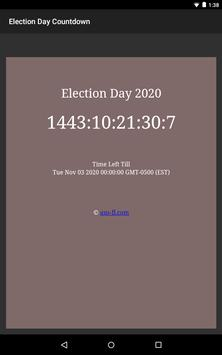US Presidential Election Day 2020 Countdown screenshot 2