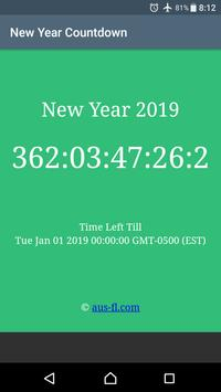 New Year Countdown poster