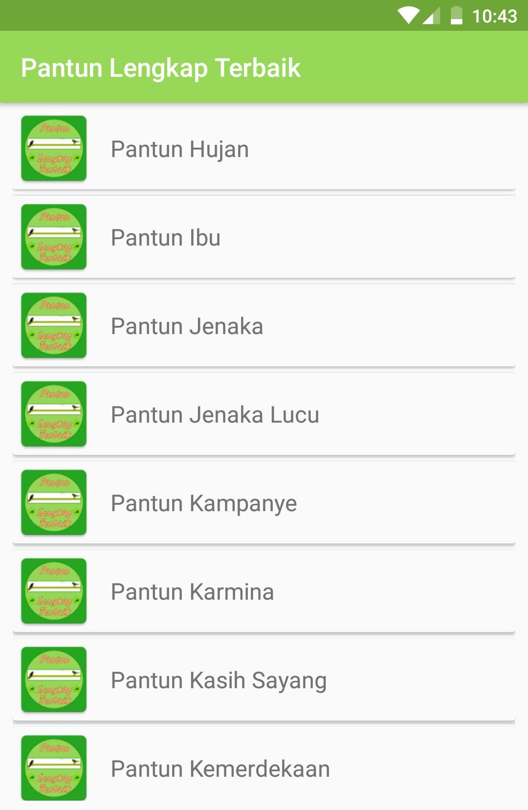 Pantun Lengkap Terbaik para Android APK Baixar