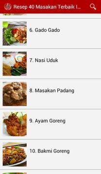 Resep 40 Masakan Terbaik screenshot 5