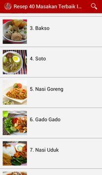 Resep 40 Masakan Terbaik screenshot 6