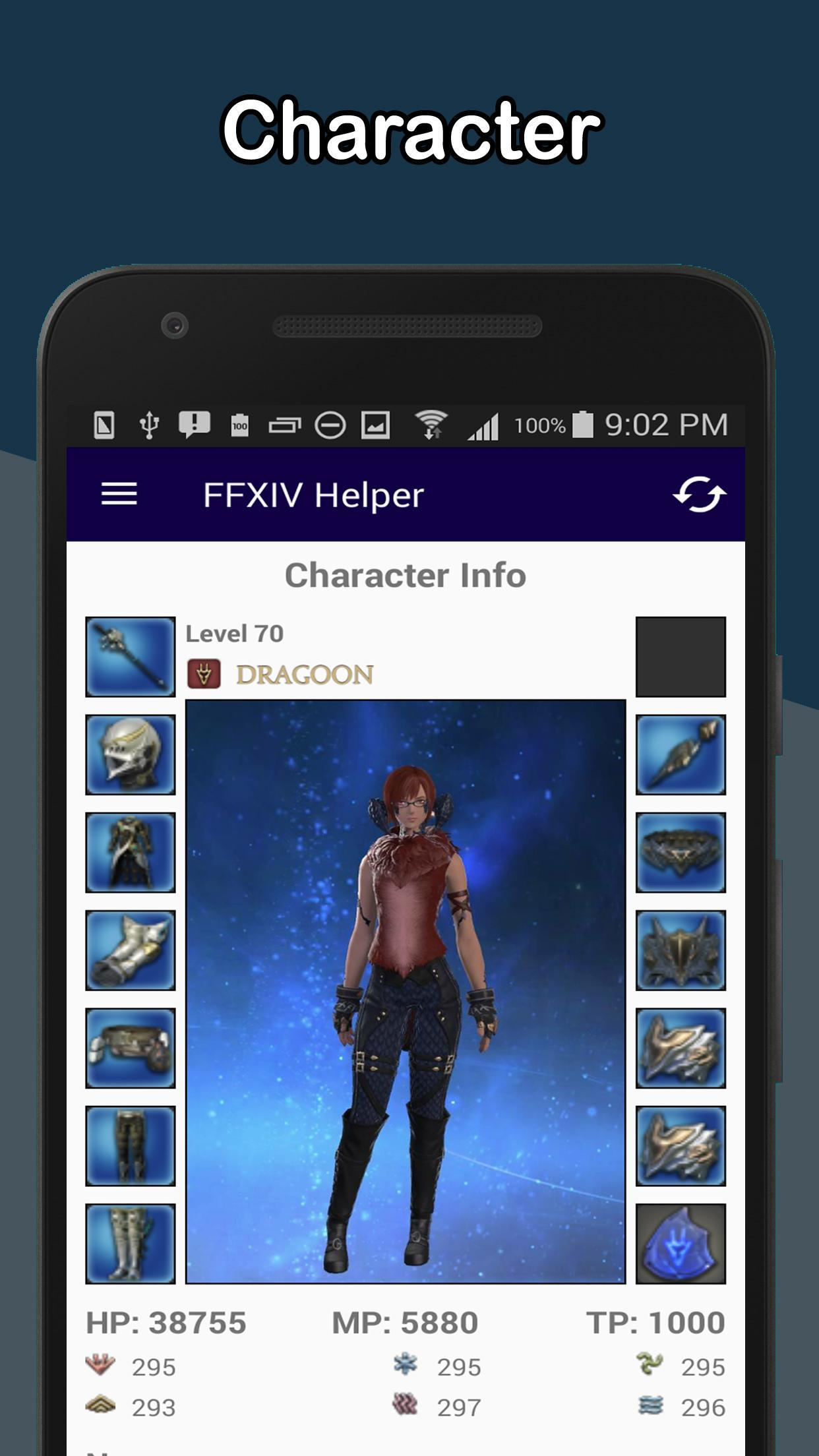 Helper Tool for FFXIV - News, Character, Server for Android