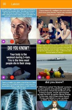 Amazing Facts; Did You Know? screenshot 5