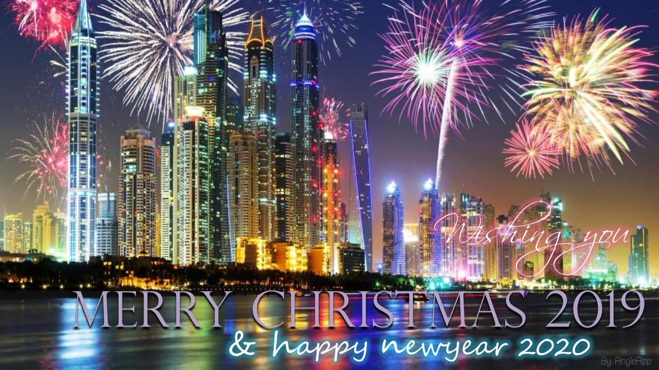 Merry Christmas And Happy New Year 2020 Greetings Happy