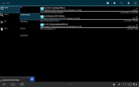 aDownloader captura de pantalla 5