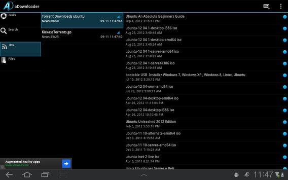aDownloader captura de pantalla 7