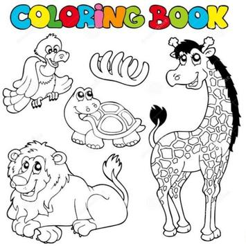Animal Coloring Book poster