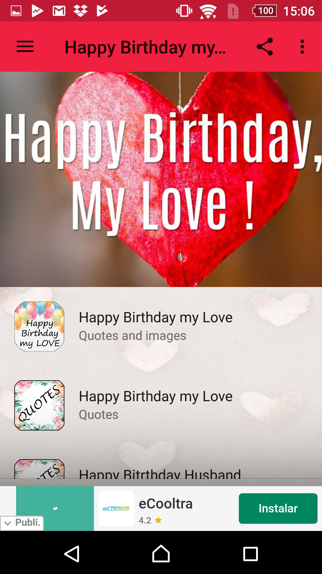 Happy Birthday My Love Quotes For Android Apk Download