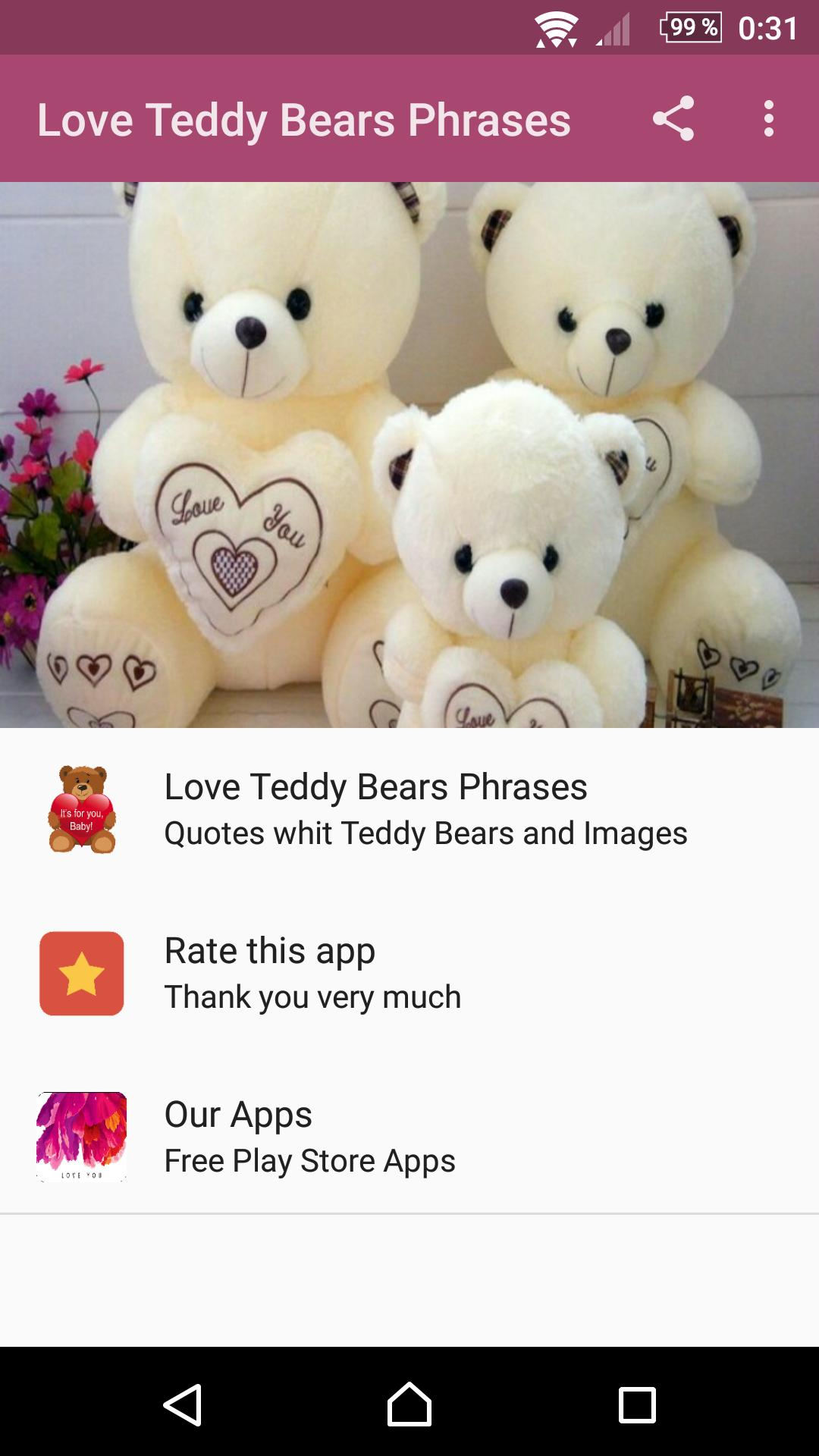 Love Teddy Bears Phrases for Android - APK Download