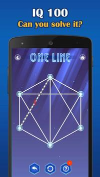 Poster One Line Deluxe - one touch drawing puzzle