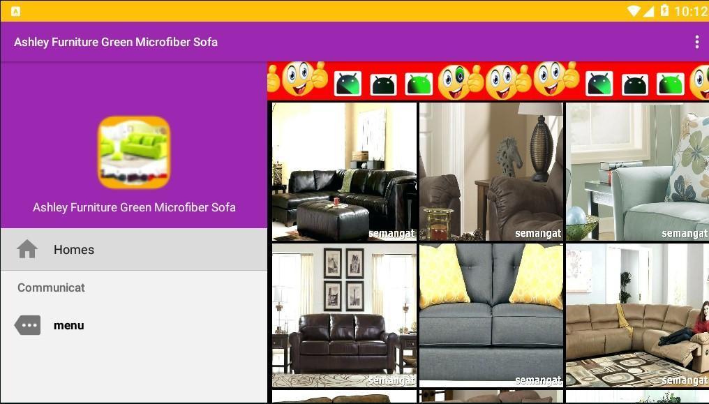 Ashley Furniture Green Microfiber Sofa for Android - APK ...