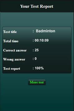 Quiz: Badminton screenshot 7