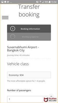 Bangkok Airport Taxi screenshot 2