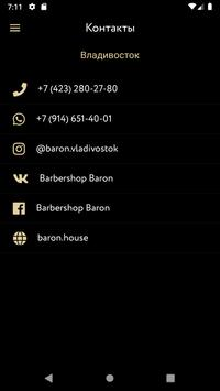 BARON BARBERSHOP screenshot 4