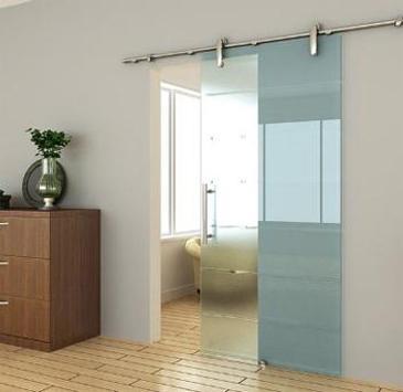 Bathroom door design poster