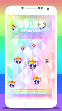 🦄 Rainbow Unicorn Wallpaper Lock Screen App 🦄 screenshot 3
