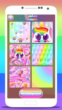 🦄 Rainbow Unicorn Wallpaper Lock Screen App 🦄 screenshot 5